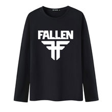Nieuwe Collectie Fallen Lange Mouw Wit T-Shirt Mannen O-hals en T Shirt Mannen 2017 Hip Hop in XXS-3XL Mens Hiphop Katoen Tees(China)