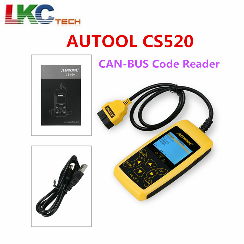 AUTOOL CS520 OBD2 EOBD CAN BUS Code Reader Live Data Automotive Fault Code Scanner Car Diagnostics Scan Tool CS 520