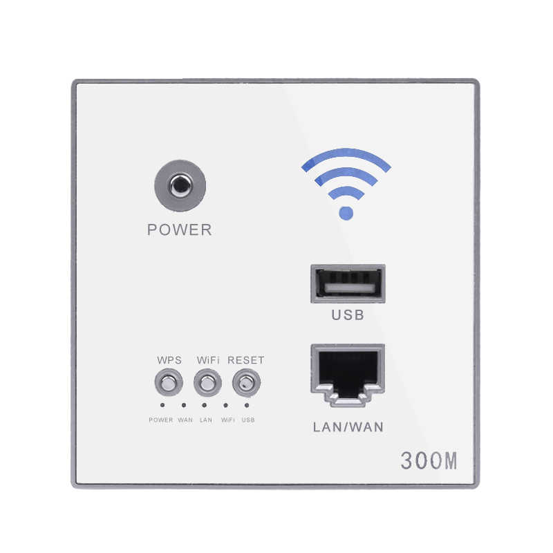 300Mbps enrutador de pared 110 V/220 V potencia Ap relé inteligente inalámbrico Wifi repetidor extensor pared incrustado 2,4 Ghz Router Panel enchufe USB
