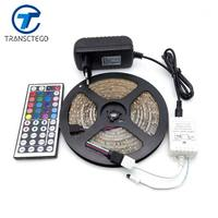 LED Strip Light Waterproof RGB 3528 5M Flexible Rope 44Keys IR Remote Controller DC 12V 2A