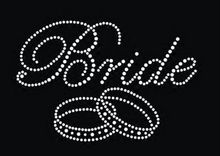 Free shipping (2pc/lot) Bride rings design  hot fix rhinestone applique iron on crystal transfers strass