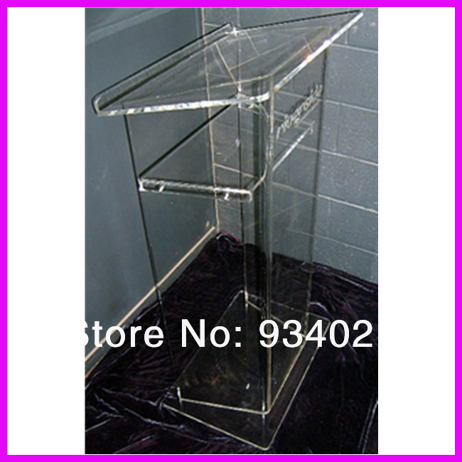 Clear Acrylic Podium Reception Table Transparent Podium To Speak Desk Company Cashier Unit School Supplies Plexiglass