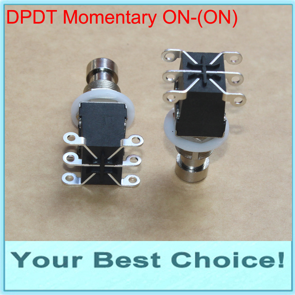 5pcs/Lot DPDT Momentary ON-(ON) Guitar Effect Stomp Pedal Foot Switch