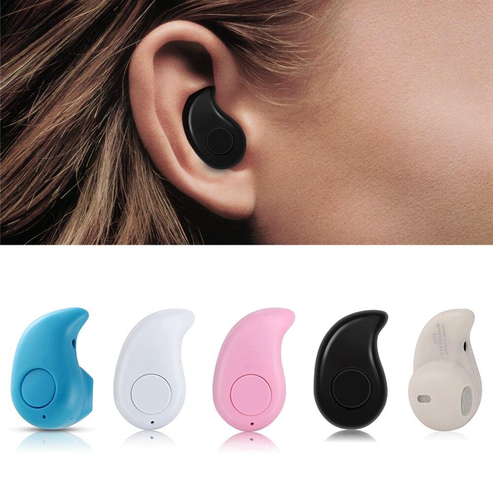 45f27b134ff Mini Bluetooth Bluetooth Invisible auricular auricular inalámbrico con  Bluetooth para auriculares soporte llamadas manos libres para el iPhone  Samsung ...