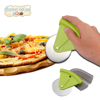 New 1PCS Stainless Steel Pizza Cutter Round Shape Pizza Wheels Cutters Cake Bread Knife Cutter Pizza Tools  нож для пиццы