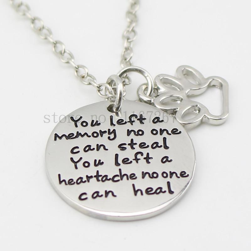 Pet Loss Necklace Memorial Necklace