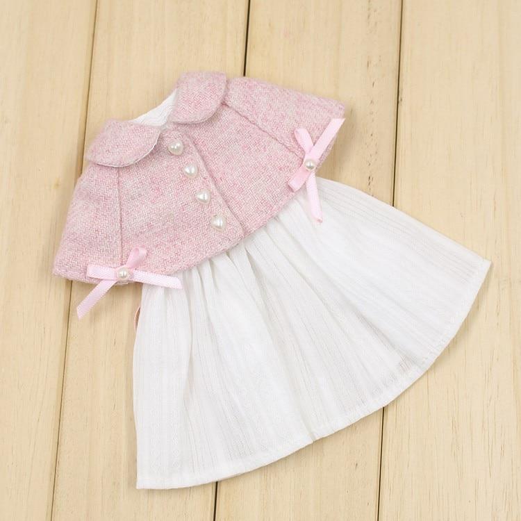 Neo Blythe Doll Pink White Cloak Dress 1