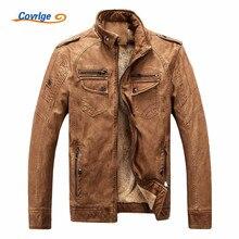 Covrlge мужская кожаная куртка мода 2019 мужские мотоциклетные зимняя куртка Для мужчин пальто Повседневное пальто из искусственной кожи замши MWP003