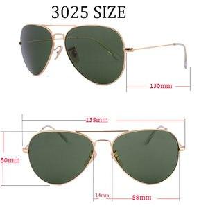 Image 5 - 2020 DPZ szklane soczewki gradientu kobiet okulary mężczyźni 58mm 3025 lustro G15 Gafas hot rayeds marka okulary UV400