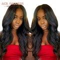 ACE DIOSA Llena Del Cordón Pelucas de Pelo Humano Malasio de la Onda Del Cuerpo peluca Del Pelo Humano Del Frente Del Cordón Pelucas Negro Mujeres Perruque Cheveux Humain