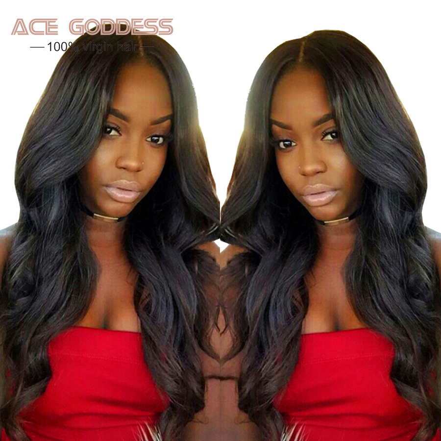 ACE GODDESS Full Lace Human Hair Wigs Malaysian Body Wave
