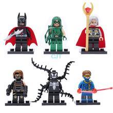 D849 6pcs/lot The Avengers Super Hero Star wars Minifigures Building Blocks Sets Figures Toys Superman Batman  DIY Bricks Toy