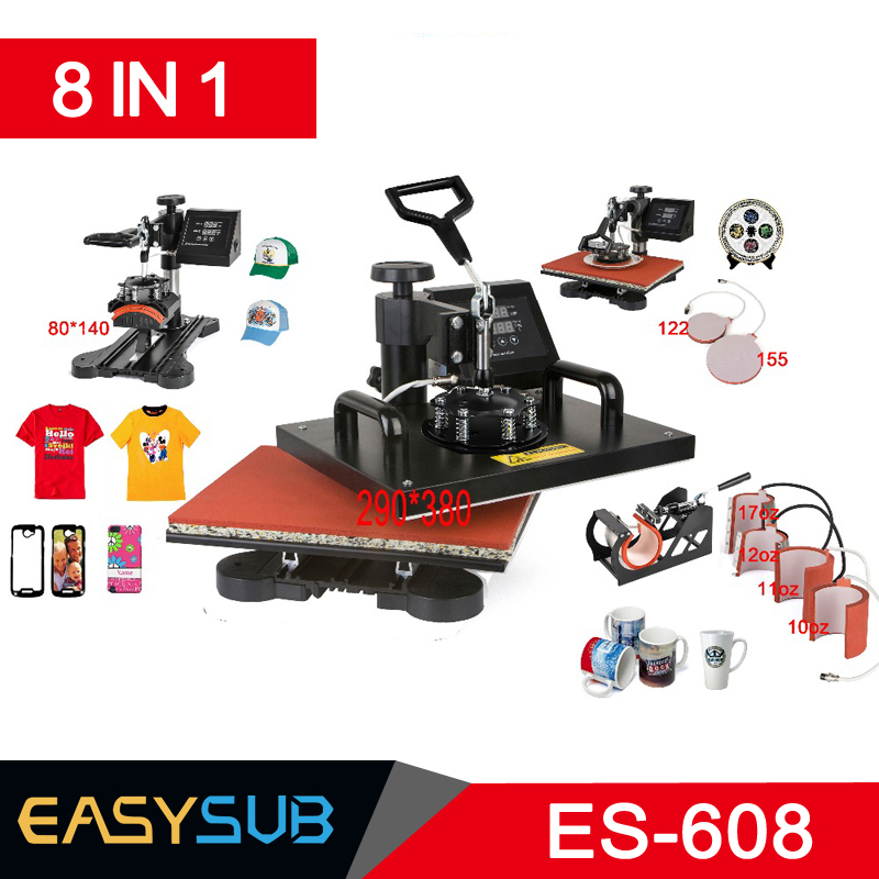 Advanced New Design 8 In 1 Combo Heat Press Machine,Sublimation/Heat Press,Heat Transfer Machine For Mug/Cap/T shirt/Phone casesAdvanced New Design 8 In 1 Combo Heat Press Machine,Sublimation/Heat Press,Heat Transfer Machine For Mug/Cap/T shirt/Phone cases