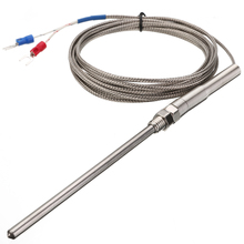 3 Meter Wire Thermocouple Sensor 0~400 Degree Celsius K type Thermocouple Temperature Sensor 100mm Probe Measurement Tool 1pcs 80mm thermocouple sensor type k temperature probe 8cm thermometer 50 500 celsius range