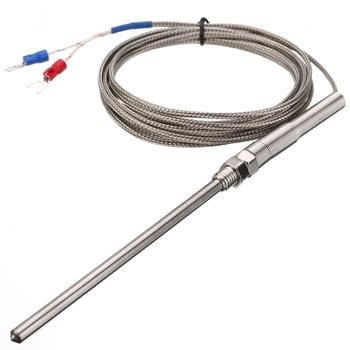 цена на 3 Meter Wire Thermocouple Sensor 0~400 Degree Celsius K type Thermocouple Temperature Sensor 100mm Probe Measurement Tool