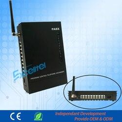 Mini sistema de telefone pbx pabx MS108-GSM com cartão sim para casa e escritório