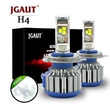 JGAUT T1 H4 светодиодный фар автомобиля H7 светодиодный H1 H3 H11 880 H13 9005 9006 9012 TURBO 80 Вт 70 вт 7000lm авто лампы автомобилей фары 6000 К