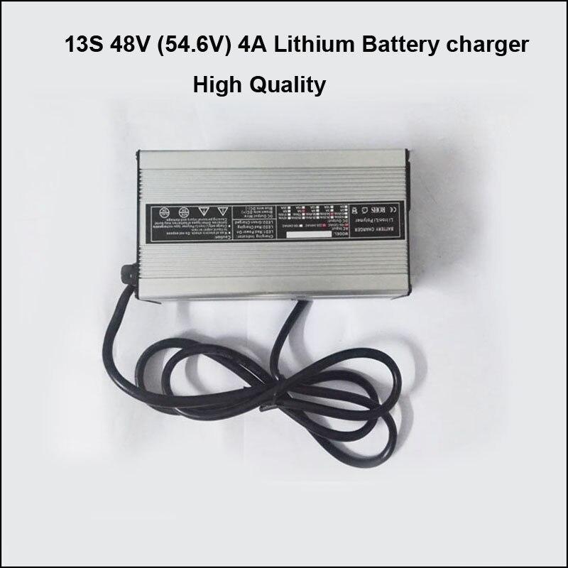new arrival 4e73b b3f3d US $55.2 |13 s 48 v Lithium ionen Batterie ladegerät 54,6 v 4A elektrische  fahrrad oder roller li ion batterie ladegerät für 18650 oder lipo batterie  ...