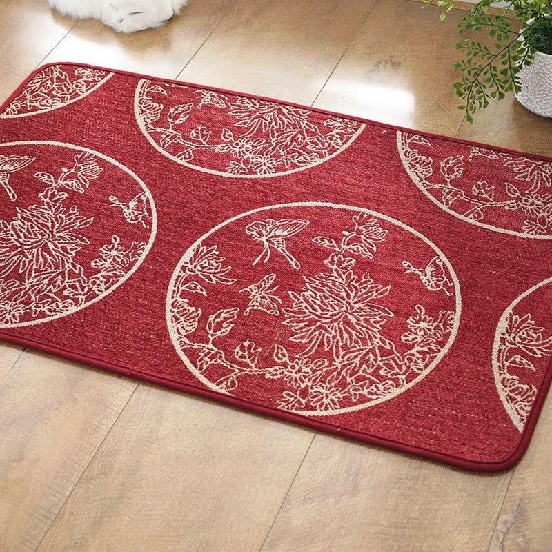 European Muslims rug Jacquard mat Machine washable No smell hall mat Custom doormat non-slip Wood floor protection carpet