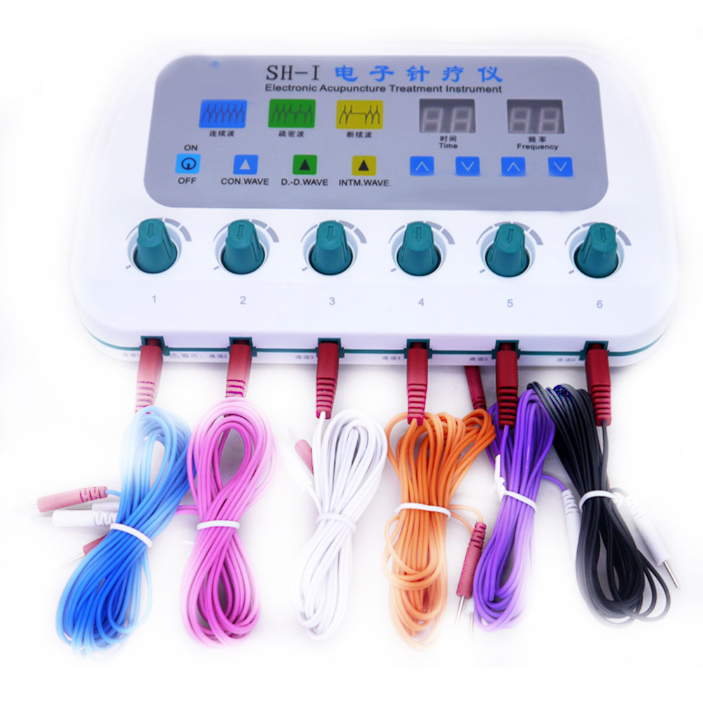 6 channel SH-I electroacupuncture stimulator electronic massager muscle stimulator treatment instrument relieve pain 110-240V6 channel SH-I electroacupuncture stimulator electronic massager muscle stimulator treatment instrument relieve pain 110-240V
