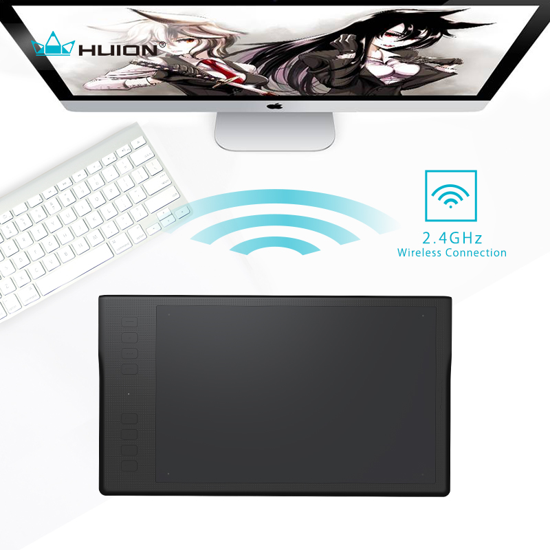 HUION Inspiroy Q11K Wireless Digital Tablet Professional Animation Art Graphic Drawing Tablet Pen Writing Tablet huion p608n usb 26 function keys graphic tablet black