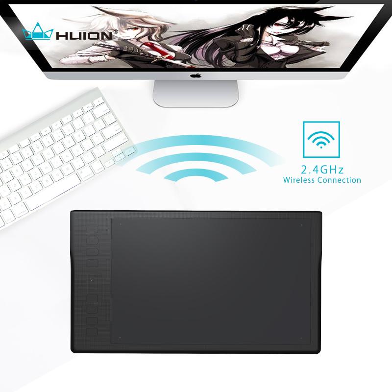 Prix pour Huion inspiroy q11k sans fil numérique tablet professionnel animation art graphique dessin tablet pen écriture tablet