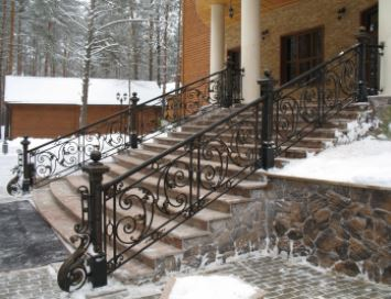 US $199 0 |iron railings for exterior steps wrought iron front porch  railings iron wall railings-in Window Security Bars from Home Improvement  on