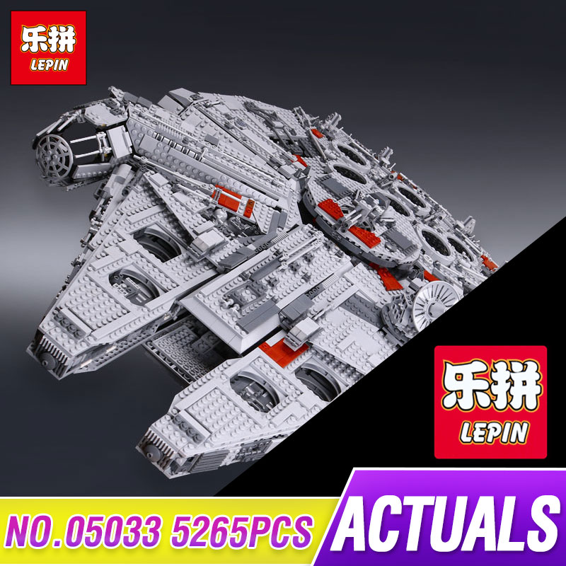 LEPIN 05033 5265pcs Star Kit Wars Ultimate Collector's Millennium Model Falcon Buildings Blocks Bricks Toy gift Compatible 10179 lepin 05033 5265pcs star wars ultimate collector s millennium falcon model building kit blocks bricks toy compatible