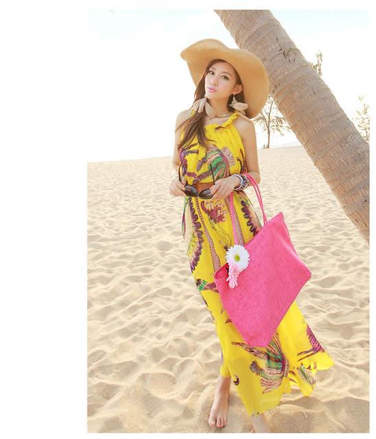 0c43936a2d3 Sexy Summer Beach Dress Bohemia Chiffon Maxi Dress Plus Size 6XL 5XL 4XL  XXXL Seaside Vacation