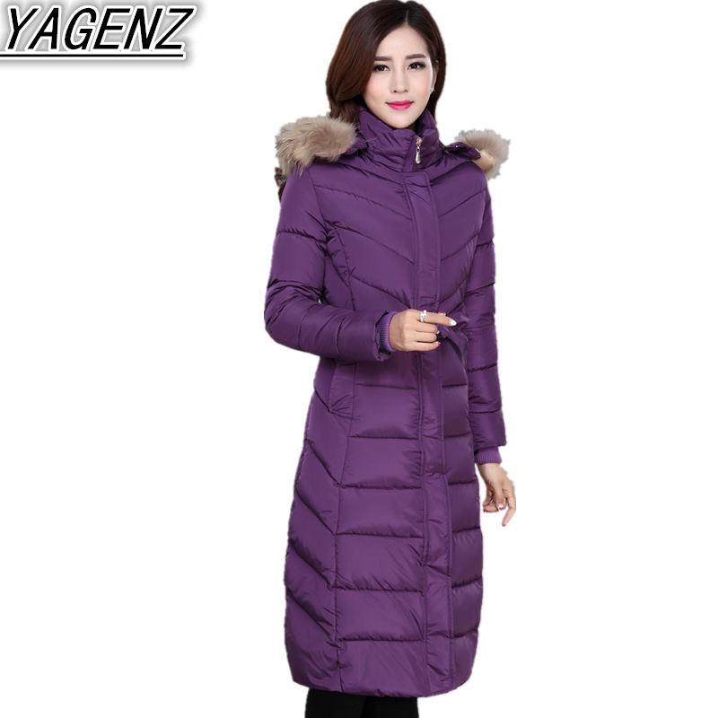 Large size Winter Jackets Women 2018 New Down Jacket Coat Women's Thicken Warm Hooded Cotton-padded Coat Female Long Cotton Coat winter jackets coats new down cotton jacket women parkas thicken hooded outerwear slim large size medium long female coat k616