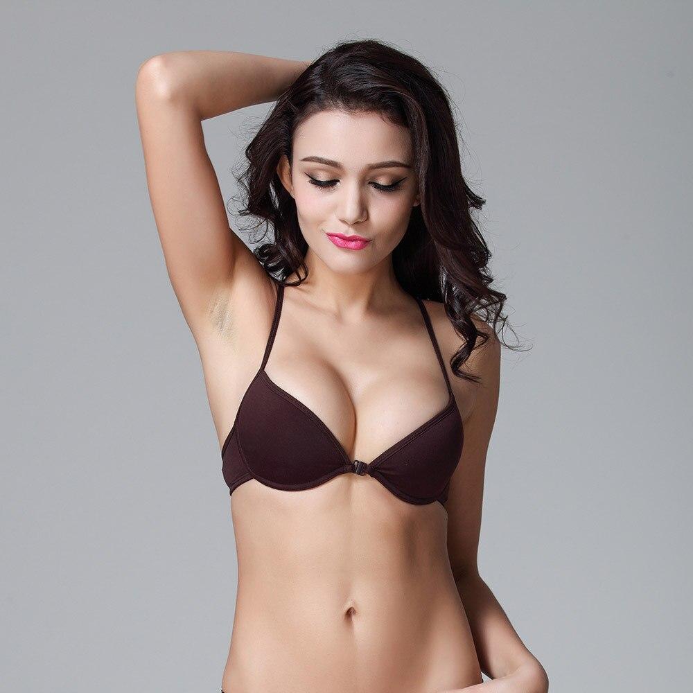 Womens Cotton Front Closure Bra Spanish Brand Y Line Straps Sexy
