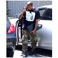 Hot 2017 new Yeezy season 1 overalls camouflage pants Kanye West army green hiphop pocket large beam pants leg pants