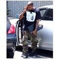 Hot 2017 nueva temporada 1 monos de camuflaje pantalones Kanye West Yeezy hiphop bolsillo verde del ejército grande haz pantalones de la pierna pantalones