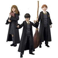 12CM SHF Harry Potter Hermione Granger Ron Weasley PVC Action Figure Model Toys Doll For Children Gift