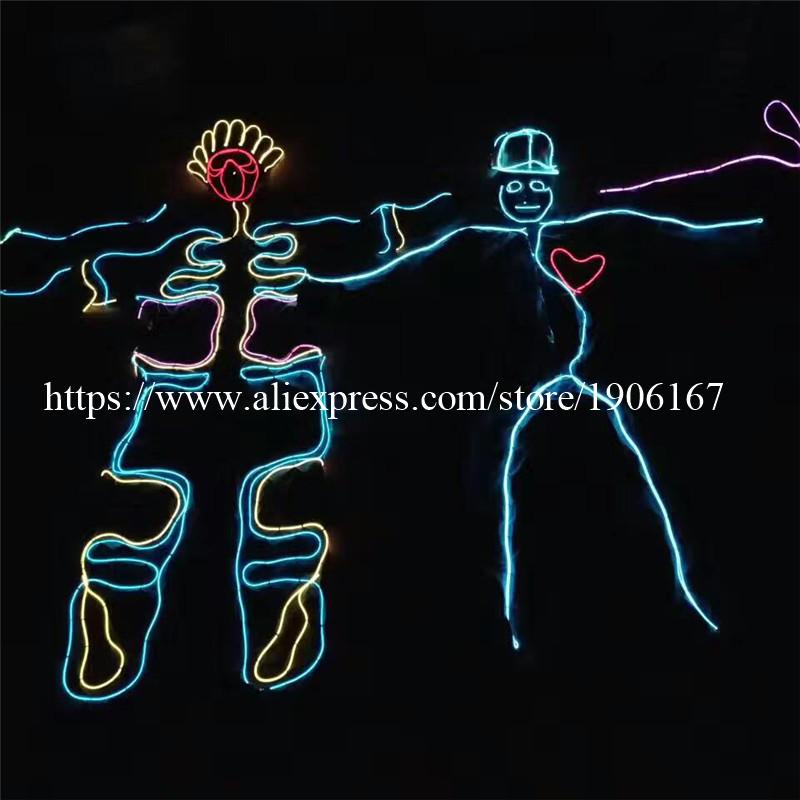 Tron Dance LED Clothing. Luminous Neon EL Wire Costume dance costume 04