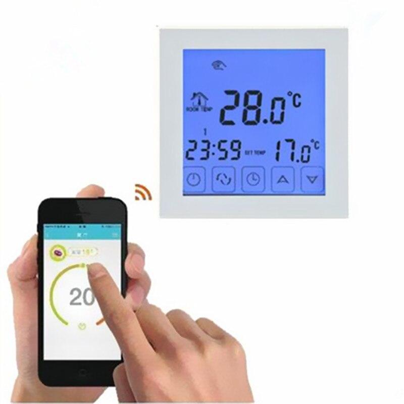 Thermostat intelligent noir/blanc WiFi Android et iOS App contrôle hebdomadaire Programmable température ambiante chaude contrôleur AC200V-240V