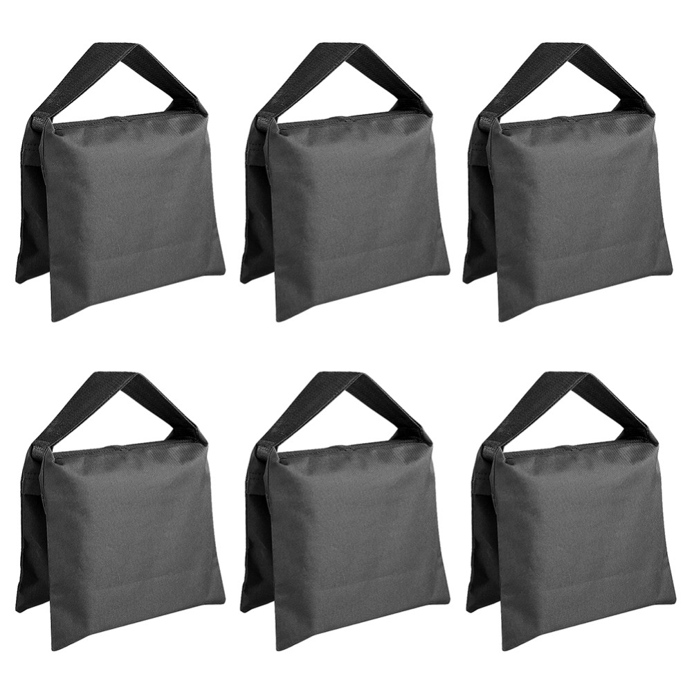 Neewer 6 Pack Black Sand Bag Photography Studio Video Stage Film Saddlebag for Light Stands Boom Arms Tripods icoco 12v led car auto drl fog lights headlight lamp bulb 2pcs hid white high power 9004 hb1 2835 smd