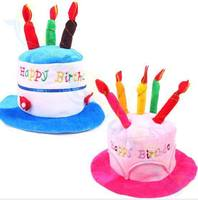 40pcs Halloween Christmas decoration adult kids Birthday Caps Hat with Cake Candles festival Birthday Party Costume Headwear