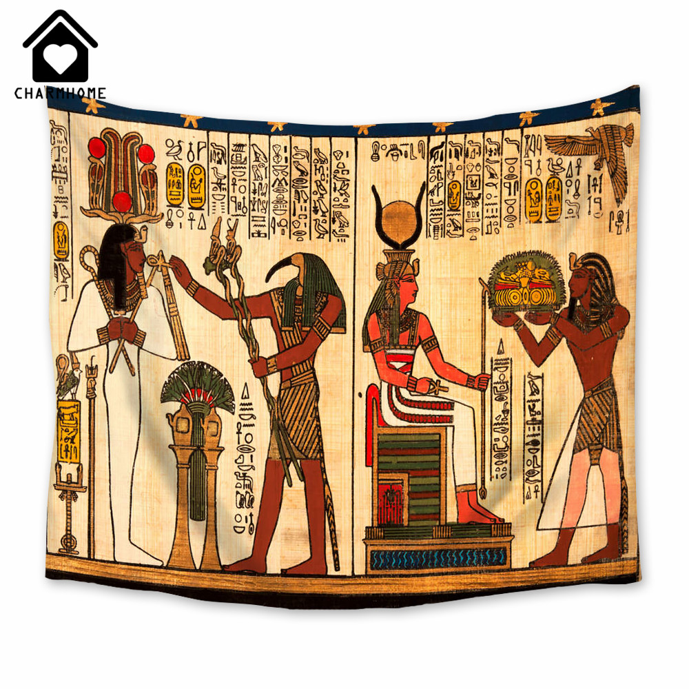 2018 City Hanging Map Of The World Tapestry Egypt Ancient Figure ...