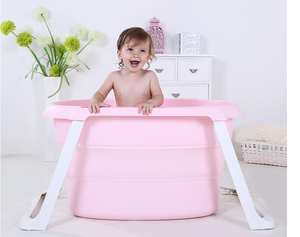 Tubs Bath-Bucket Folding Newborn-Baby Washing Swimming Portable Children for Adult Piscina