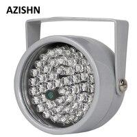 AZISHN CCTV светодиоды инфракрасный осветитель 48 шт. ИК-светодиодов с ночным видением IP66 инфракрасный CCTV заполняющий свет металлический водонеп...