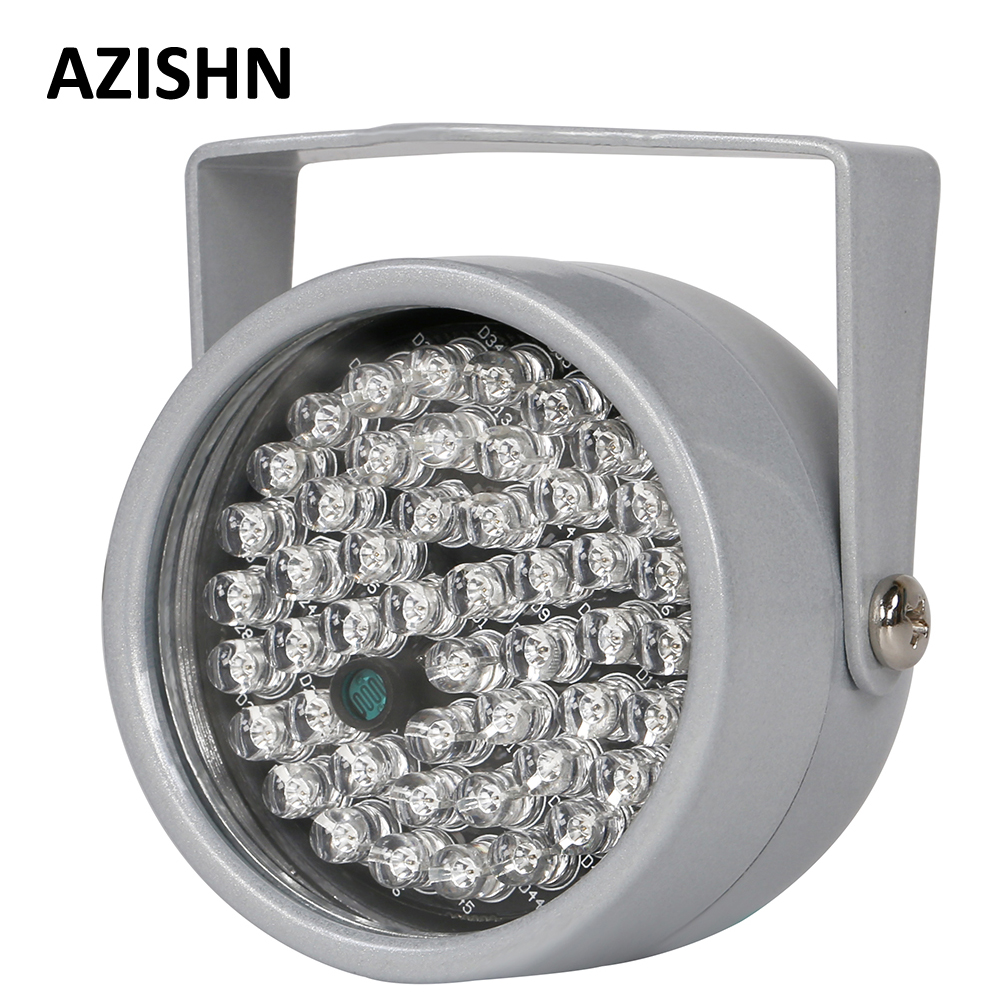 AZISHN CCTV LEDS Infrared Illuminator 48 Pcs IR LEDs Night Vision IP66 Infrared CCTV Fill Light Metal Waterproof For CCTV Camera