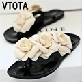 2016 Fashion flip flops summer shoes woman Floral sandals women flat sandals Soft breathable slippers Cut-outs ladies shoes X541