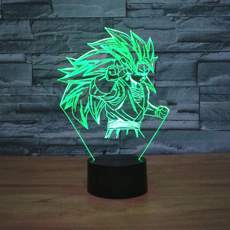 7 Colors Dragon Ball Lamp 3D Anime LED Table Lamp Changing Dragon Ball Z  Super Saiyan 4 Goku Lamp Action Figures Toys Kids Light In LED Night Lights  From ...
