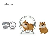 JC Metal Cutting Dies for Scrapbooking Lovely Squirrel Animal Craft Die Cut Card Making Stencil Handmade Album Paper Decor