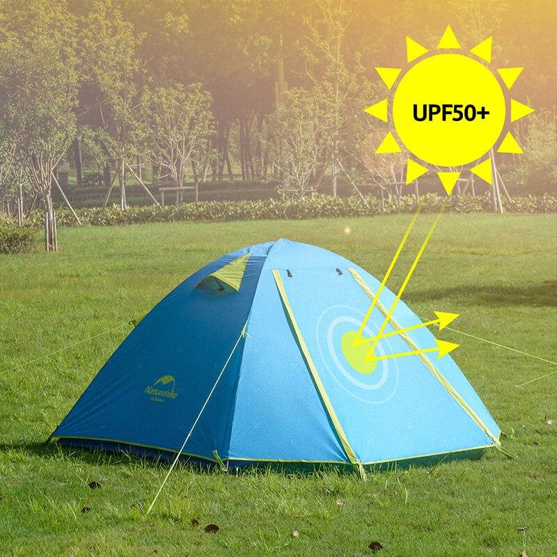 NatureHike P Serie Klassische Camping Zelt 210T Stoff Für 2 Personen NH15Z003-P