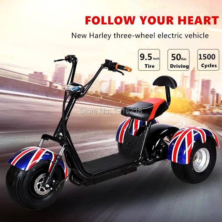 Plusieurs couleurs 3 roues moto adulte Scooter électrique Plus large bande chaise Motocross moto
