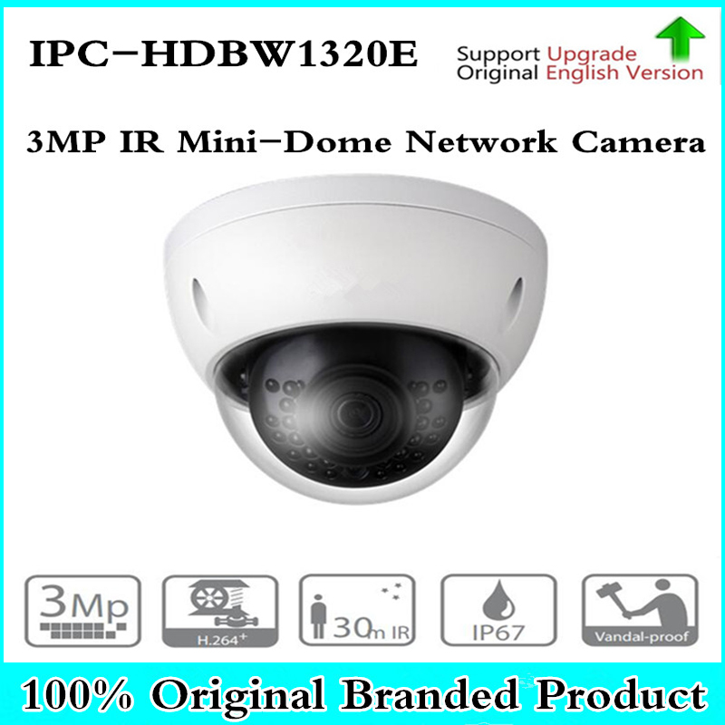 DH IPC-HDBW1320E with logo original 3MP IR Mini-Dome Network IP Camera CCTV Support IK10 IP67 POE Waterproof Day Night Camera dahua original 8ch 3mp h2 64 dh ipc hdbw1320e 8pcs dome cctv ip network camera poe dahua dhi nvr5208 4ks2 security camera kit
