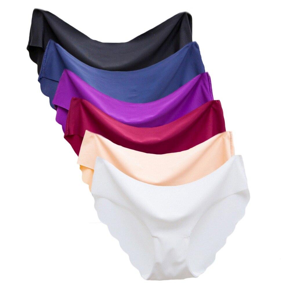 Women   Panties   Underwear Ultra-thin Viscose Seamless Briefs For Women's Comfort low-Rise Ruffles Sexy Lingerie Summer New Hot