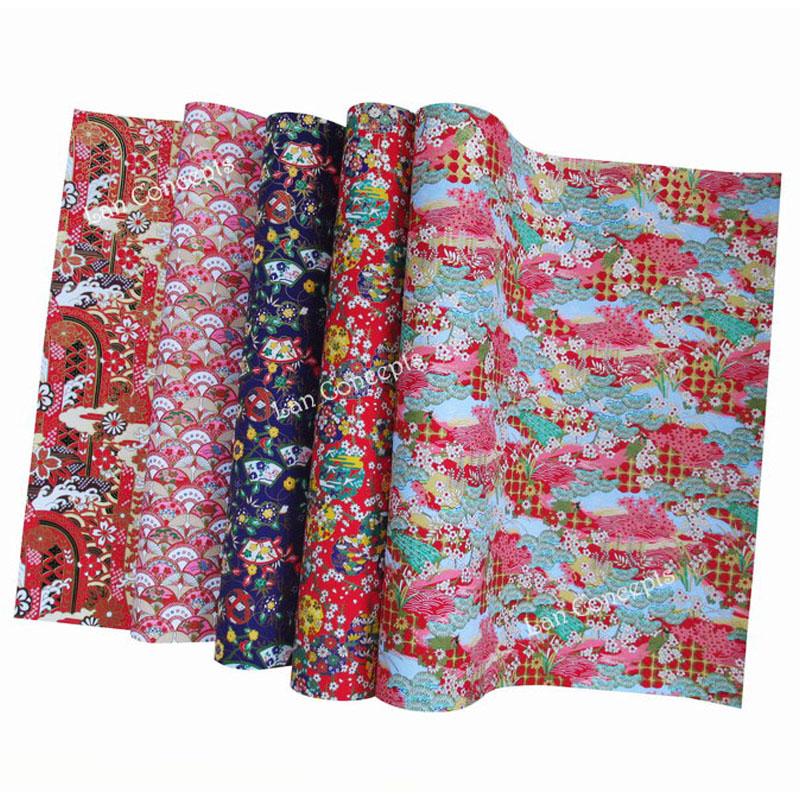 Aitoh YW-112 Yuzen Washi Chiyogami Paper, 4 Inch Square, 40 Sheets ... | 800x800